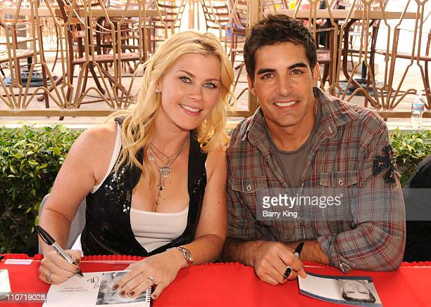 Actress Alison Sweeney and actor Galen Gering attend the 'Days of Days' Fan Event for 'Days Of Our Lives' soap opera held at Universal CityWalk on...