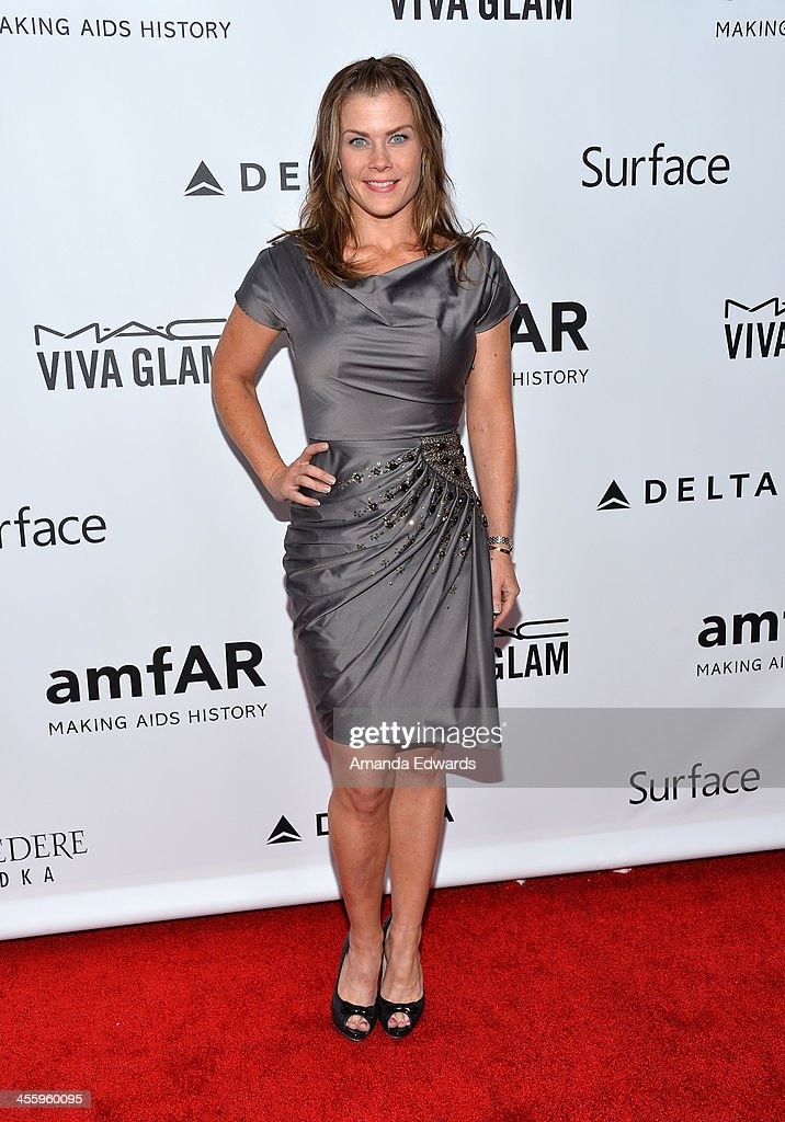 Actress Alison Sweeney arrives at amfAR The Foundation for AIDS 4th Annual Inspiration Gala at Milk Studios on December 12, 2013 in Hollywood, California.