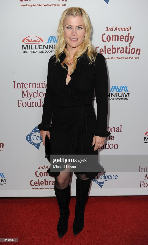 Actress <a gi-track='captionPersonalityLinkClicked' href=/galleries/search?phrase=Alison+Sweeney&family=editorial&specificpeople=217974 ng-click='$event.stopPropagation()'>Alison Sweeney</a> arrives at the International Myeloma Foundation's 3rd Annual Comedy Benefit Celebration at The Wilshire Ebell Theatre on November 7, 2009 in Los Angeles, California.