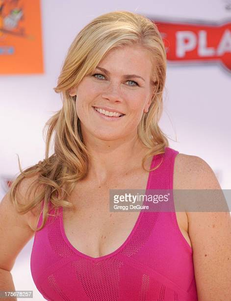 Actress Alison Sweeney arrives at the Los Angeles premiere of 'Planes' at the El Capitan Theatre on August 5 2013 in Hollywood California