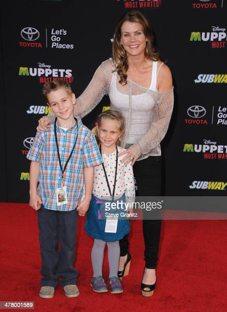 Actress Alison Sweeney arrives for Disney's 'Muppets Most Wanted' Los Angeles Premiere at the El Capitan Theatre on March 11 2014 in Hollywood...