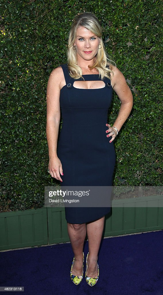 Actress Alison Sweeney attends Hallmark Channel and Hallmark Movies and Mysteries at the 2015 Summer TCA Tour at a private residence on July 29, 2015 in Beverly Hills, California.