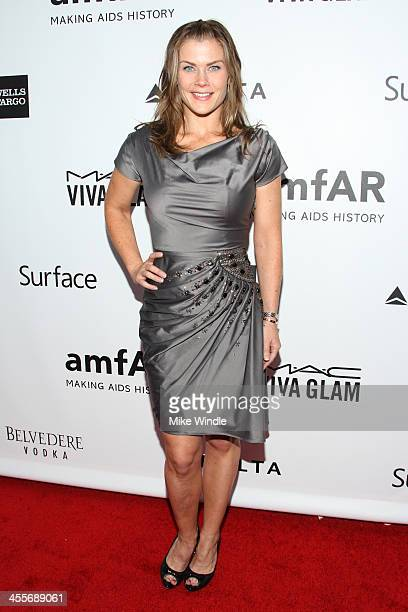 Actress Alison Sweeney attends the 2013 amfAR Inspiration Gala Los Angeles at Milk Studios on December 12 2013 in Los Angeles California