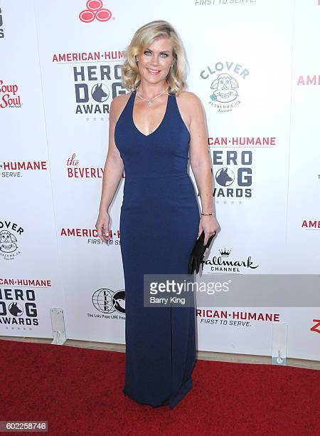 Actress Alison Sweeney attends the 6th Annual Hero Dog Awards 2016 at The Beverly Hilton Hotel on September 10 2016 in Beverly Hills California