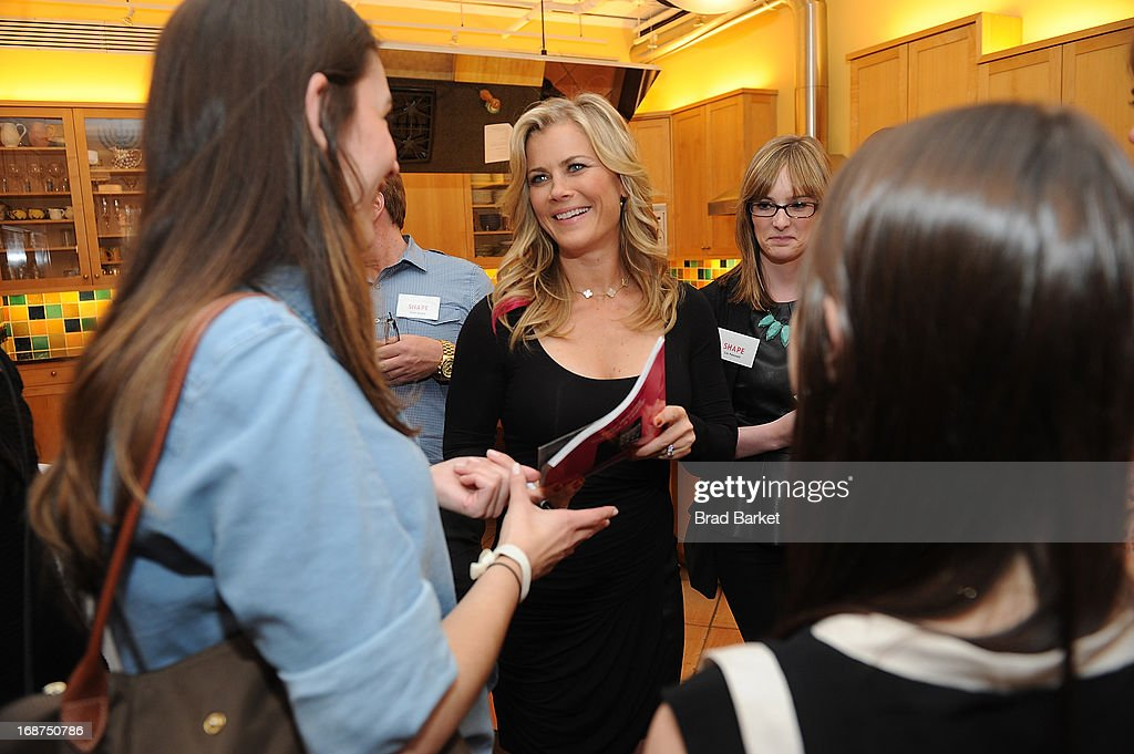 Actress <a gi-track='captionPersonalityLinkClicked' href=/galleries/search?phrase=Alison+Sweeney&family=editorial&specificpeople=217974 ng-click='$event.stopPropagation()'>Alison Sweeney</a> attends the Ali Sweeney's SHAPE Cover Party on May 14, 2013 in New York City.