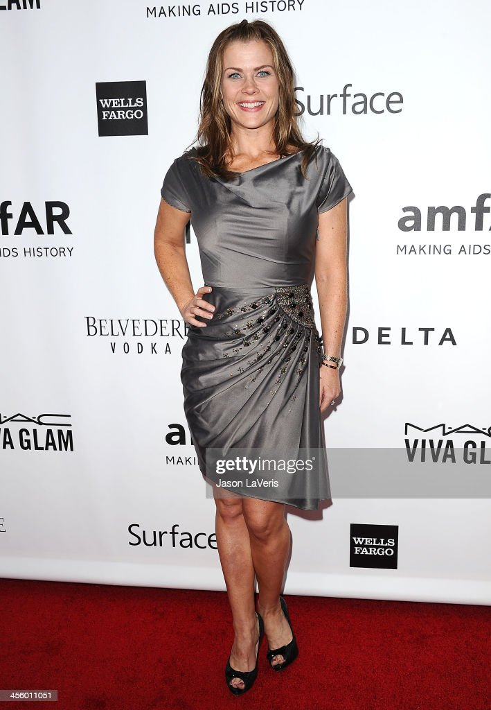 Actress Alison Sweeney attends the amfAR Inspiration Gala at Milk Studios on December 12, 2013 in Hollywood, California.