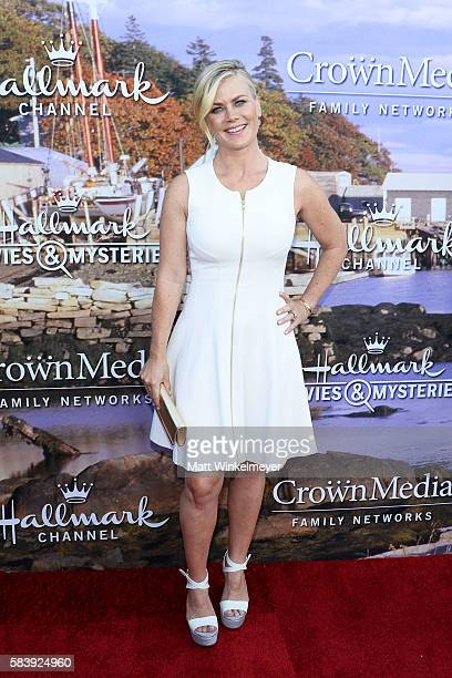 Actress Alison Sweeney attends the Hallmark Channel and Hallmark Movies and Mysteries Summer 2016 TCA press tour event on July 27 2016 in Beverly...