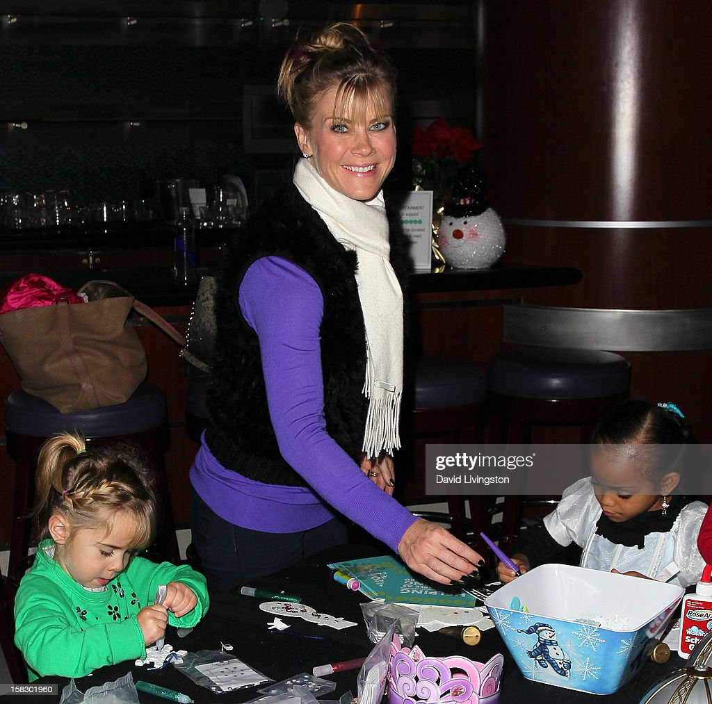 Actress <a gi-track='captionPersonalityLinkClicked' href=/galleries/search?phrase=Alison+Sweeney&family=editorial&specificpeople=217974 ng-click='$event.stopPropagation()'>Alison Sweeney</a> attends the opening night of Disney On Ice's 'Dare To Dream' at LA Kings Holiday Ice at L.A. LIVE on December 12, 2012 in Los Angeles, California.