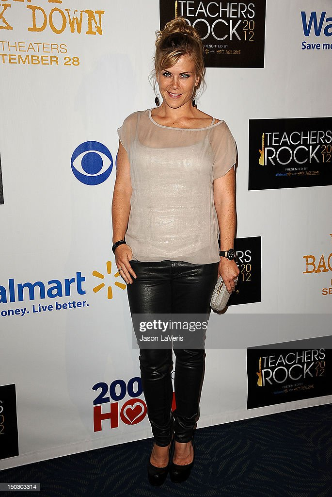 Actress Alison Sweeney attends the 'Teachers Rock' benefit at Nokia Theatre L.A. Live on August 14, 2012 in Los Angeles, California.