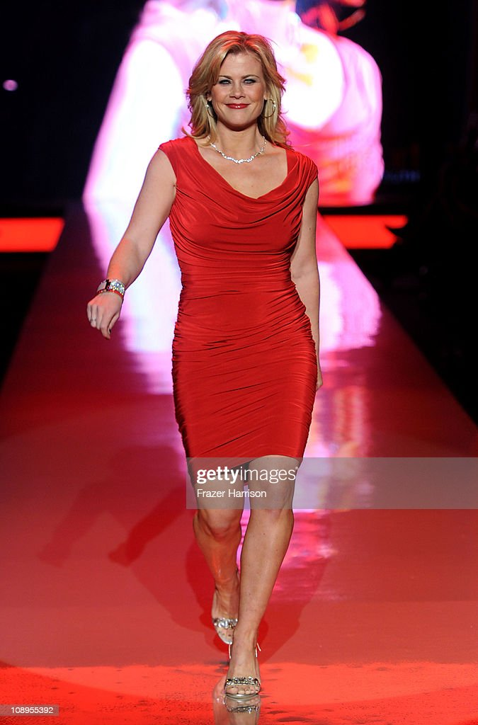Actress Alison Sweeney walks the runway at the Heart Truth Fall 2011 fashion show during Mercedes-Benz Fashion Week at The Theatre at Lincoln Center on February 9, 2011 in New York City.