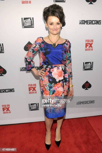 Actress Alison Wright attends 'The Americans' season 2 premiere at the Paris Theater on February 24 2014 in New York City