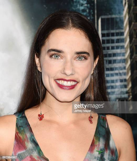 Actress Alix Angelis attends the premiere of Warner Bros Pictures' 'Geostorm' at the TCL Chinese Theatre on October 16 2017 in Hollywood California