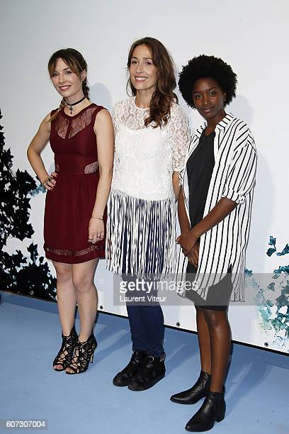 Actress Alix Benezech AnneLise Hesme and Nina Melo attends the 'Nina' Photocall during the 18th Festival of TV Fiction on September 17 2016 in La...