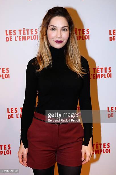 Actress Alix Benezech attends 'Les Tetes de l''Emploi' Paris Premiere at Cinema Gaumont Opera Capucines on November 14 2016 in Paris France