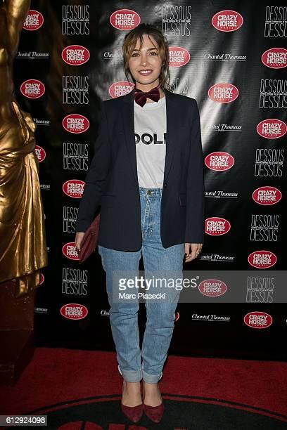 Actress Alix Benezech attends the 'Chantal Thomass Dessous Dessus' show Premiere at Le Crazy Horse on October 5 2016 in Paris France