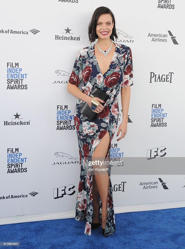 Actress Alizee Gaillard arrives at the 2016 Film Independent Spirit Awards on February 27, 2016 in Los Angeles, California.