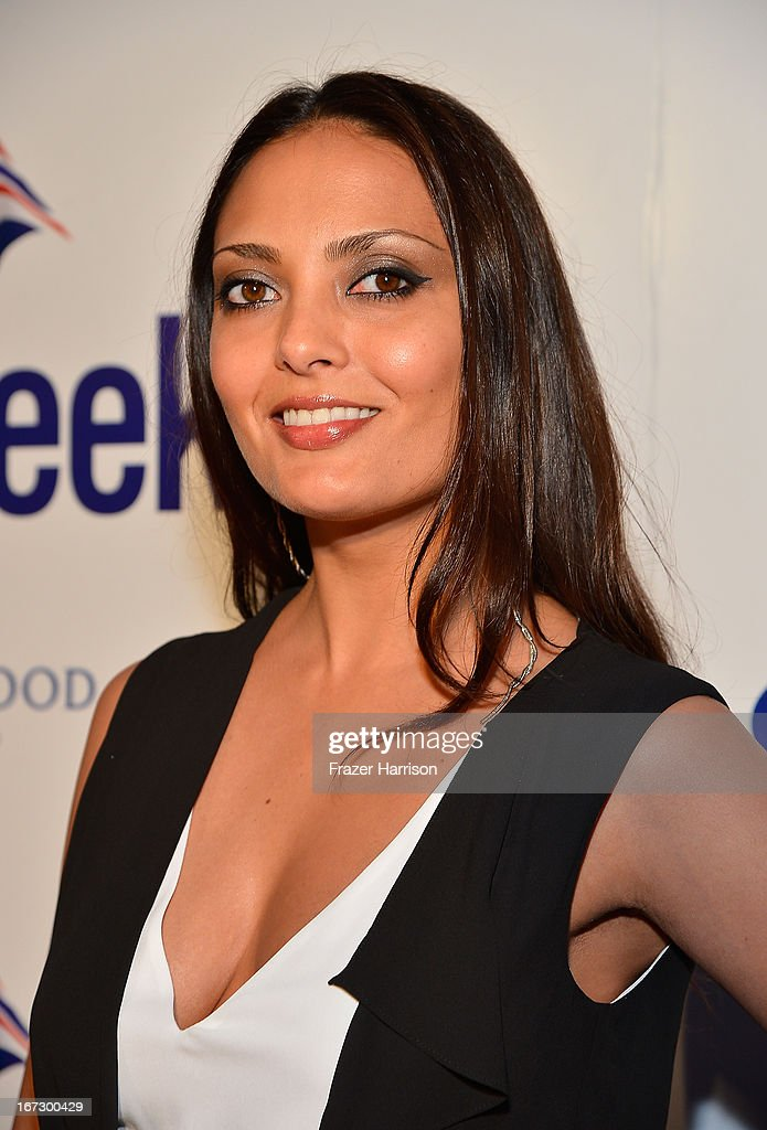 Actress Allegra Riggio attends the launch of the Seventh Annual BritWeek Festival 'A Salute To Old Hollywood' on April 23, 2013 in Los Angeles, California.
