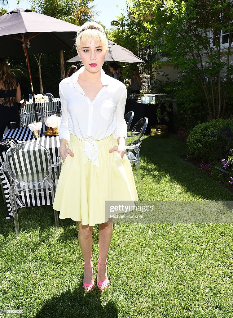 Actress Allesandra Torresani attends the June Moss Launch Party hosted by Becca Tobin at a private residence on April 8 2015 in Beverly Hills...