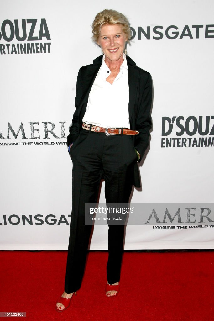 Actress <a gi-track='captionPersonalityLinkClicked' href=/galleries/search?phrase=Alley+Mills&family=editorial&specificpeople=665148 ng-click='$event.stopPropagation()'>Alley Mills</a> attends the 'America' Los Angeles premiere held at the Regal Cinemas L.A. Live on June 30, 2014 in Los Angeles, California.