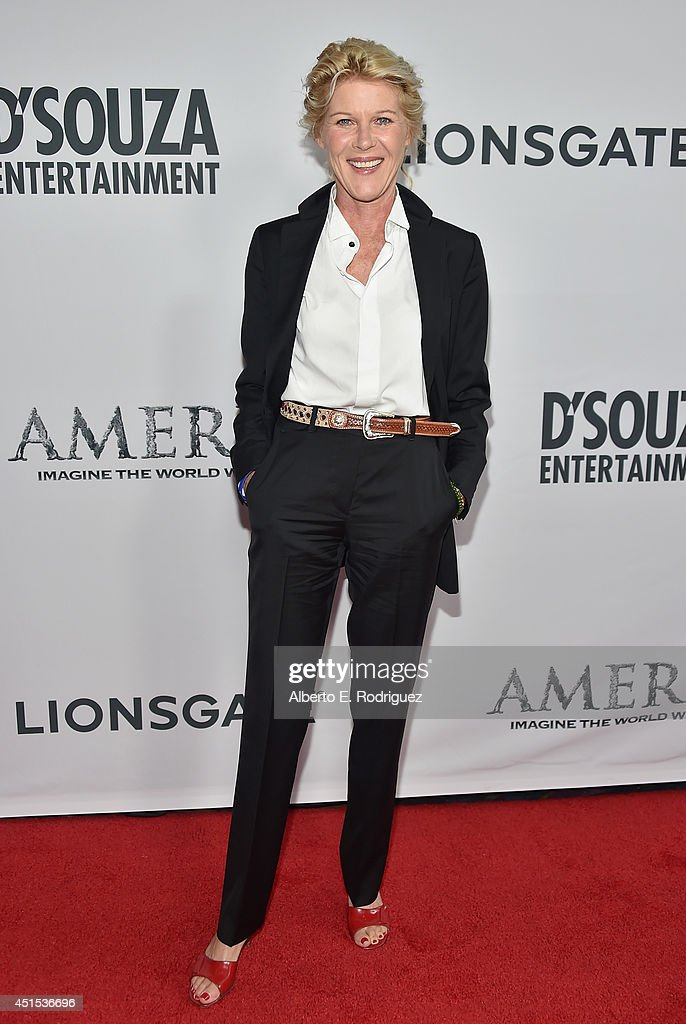 Actress <a gi-track='captionPersonalityLinkClicked' href=/galleries/search?phrase=Alley+Mills&family=editorial&specificpeople=665148 ng-click='$event.stopPropagation()'>Alley Mills</a> attends the premiere of Lionsgate Films' 'America' at Regal Cinemas L.A. Live on June 30, 2014 in Los Angeles, California.