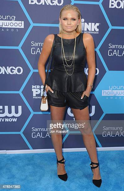 Actress Alli Simpson arrives at the 16th Annual Young Hollywood Awards at The Wiltern on July 27 2014 in Los Angeles California