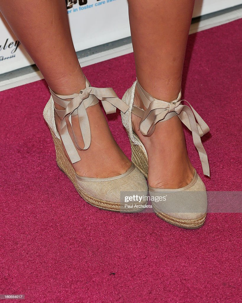 Actress Alli Simpson (Shoe Detail) attends the 4th Annual Tutus4Tots charity event on February 2, 2013 in Chino, California.