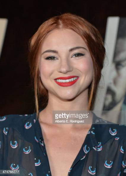 Actress Allie Gonino attends a screening of Sundance Channel's 'The Red Road' at The Bronson Caves at Griffith Park on February 24 2014 in Los...