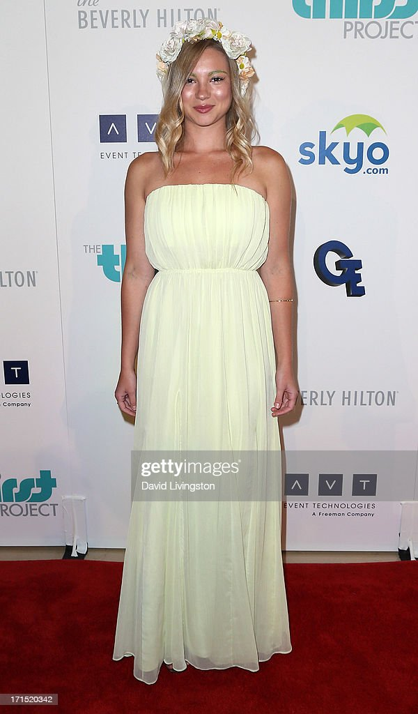 Actress Allie Gonino attends the 4th Annual Thirst Gala at The Beverly Hilton Hotel on June 25, 2013 in Beverly Hills, California.