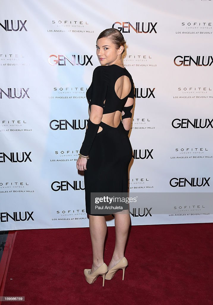 Actress Allie Gonino attends the opening of the new bar Riviera 31 at the Sofitel L.A. Hotel on January 15, 2013 in Beverly Hills, California.