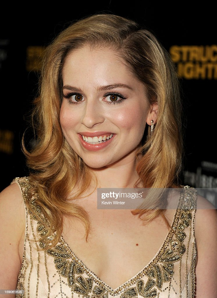 Actress Allie Grant arrives at a screening of Tribeca Film's 'Struck By Lightning' at the Chinese Cinema 6 Theaters on January 6, 2013 in Los Angeles, California.