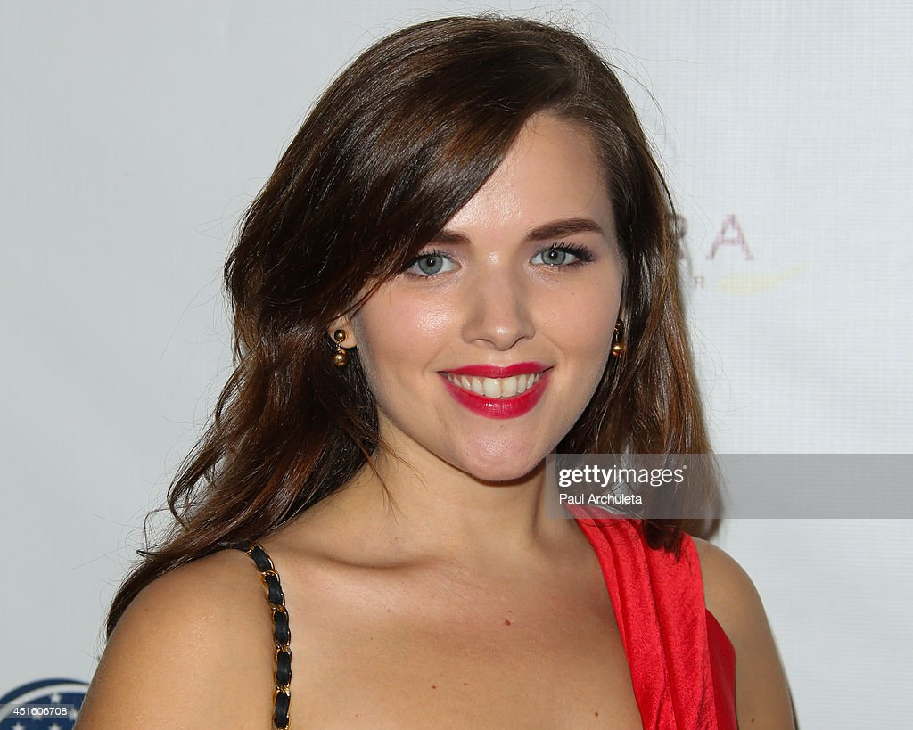 Actress Allison Boyd attends the annual Stars & Stripes charity event hosted by Children Of The Night and BenchWarmer's on July 1, 2014 in Los Angeles, California.