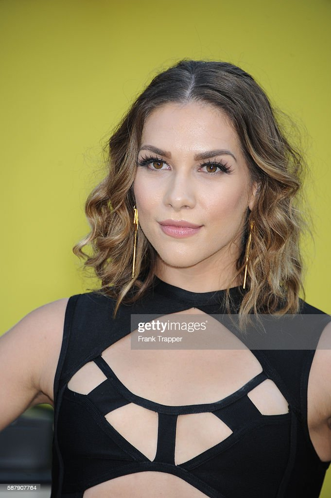 Actress Allison Holker attends the premiere of Sony's 'Sausage Party' held at the Regency Village Theater on August 9 2016 in Westwood California