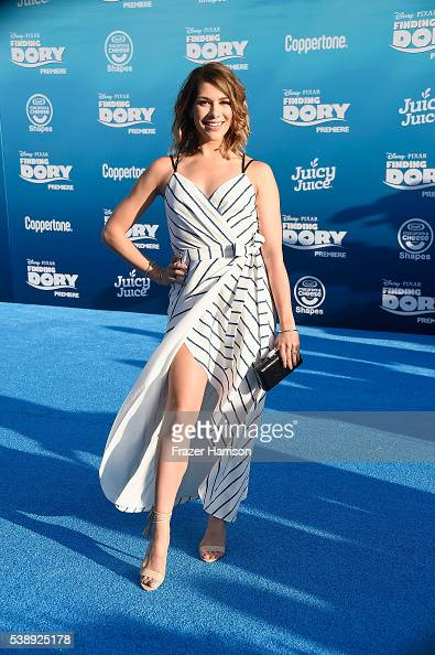 Actress Allison Holker attends the world premiere of DisneyPixar's 'Finding Dory' at the El Capitan Theatre 2016 in Hollywood California