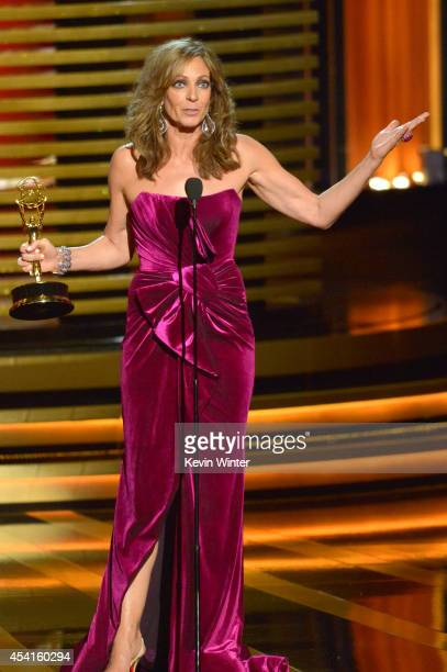 Actress Allison Janney accepts Outstanding Supporting Actress in a Comedy Series for 'Mom' onstage at the 66th Annual Primetime Emmy Awards held at...
