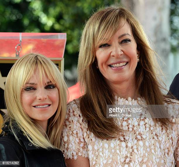 Actress Allison Janney and actress Anna Faris at the Star ceremony held On The Hollywood Walk Of Fame on October 17 2016 in Hollywood California
