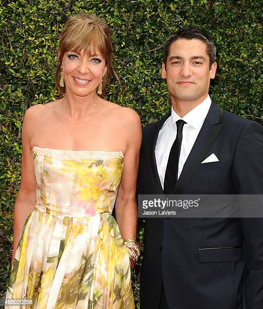 Actress Allison Janney and Philip Joncas attend the 2015 Creative Arts Emmy Awards at Microsoft Theater on September 12 2015 in Los Angeles California