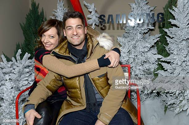Actress Allison Janney and Philip Joncas attend The Samsung Studio At Sundance Festival 2016 on January 24 2016 in Park City Utah