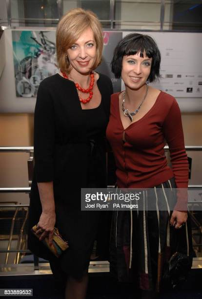 Actress Allison Janney and writer Diablo Cody arrive for the 51st BFI London Film Festival screening of the film Juno at the Odeon West End Cinema in...