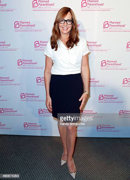 Actress Allison Janney arrives at Politics Sex and Cocktails presented by Planned Parenthood Advocacy Project Los Angeles County at The Pacific...