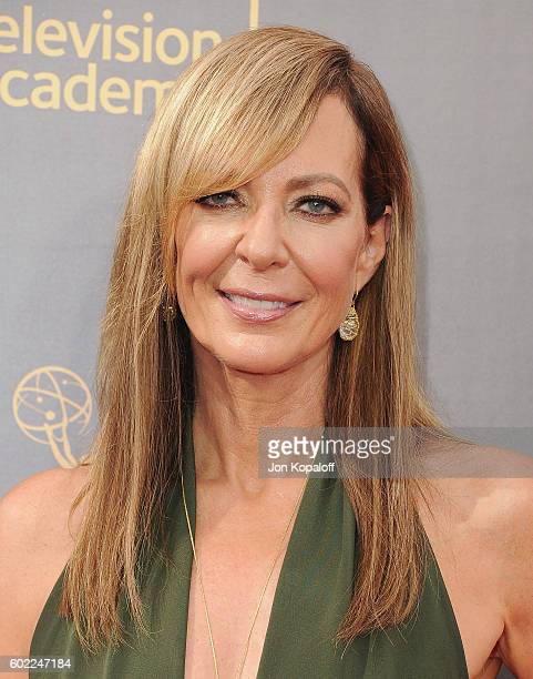 Actress Allison Janney arrives at the 2016 Creative Arts Emmy Awards at Microsoft Theater on September 10 2016 in Los Angeles California