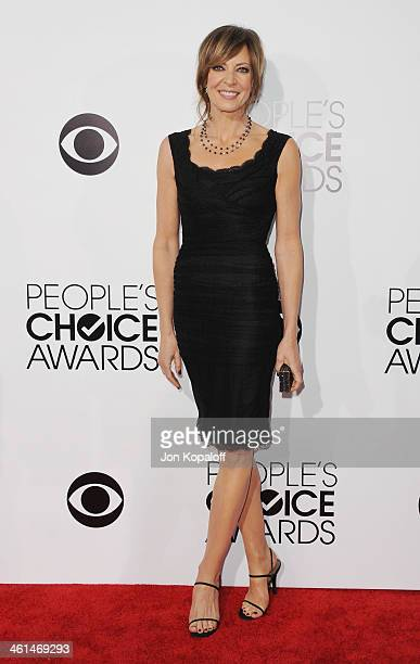 Actress Allison Janney arrives at The 40th Annual People's Choice Awards at Nokia Theatre LA Live on January 8 2014 in Los Angeles California
