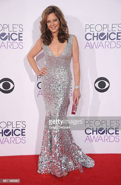 Actress Allison Janney arrives at The 41st Annual People's Choice Awards at Nokia Theatre LA Live on January 7 2015 in Los Angeles California