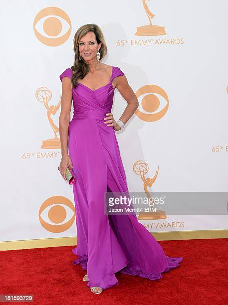 Actress Allison Janney arrives at the 65th Annual Primetime Emmy Awards held at Nokia Theatre LA Live on September 22 2013 in Los Angeles California