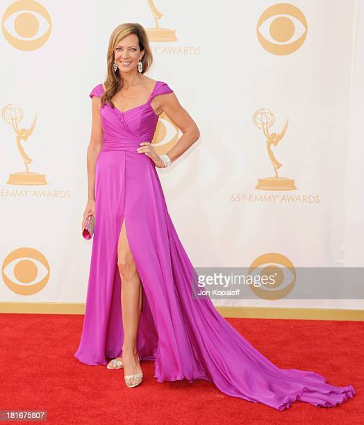 Actress Allison Janney arrives at the 65th Annual Primetime Emmy Awards at Nokia Theatre LA Live on September 22 2013 in Los Angeles California
