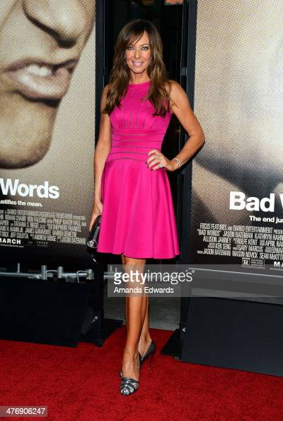 Actress Allison Janney arrives at the Los Angeles premiere of 'Bad Words' at the ArcLight Cinemas Cinerama Dome on March 5 2014 in Hollywood...