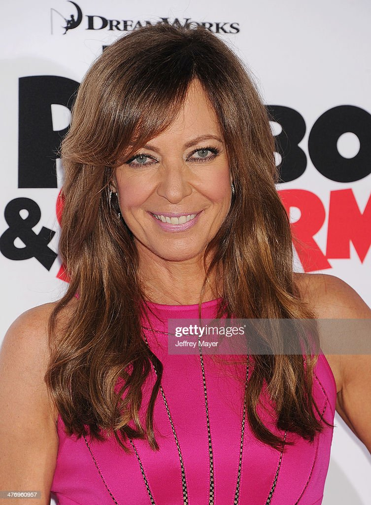 Actress <a gi-track='captionPersonalityLinkClicked' href=/galleries/search?phrase=Allison+Janney&family=editorial&specificpeople=206290 ng-click='$event.stopPropagation()'>Allison Janney</a> arrives at the 'Mr. Peabody & Sherman' Los Angeles premiere held at the Regency Village Theatre on March 5, 2014 in Westwood, California.