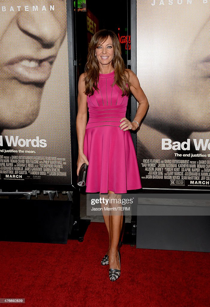 Actress <a gi-track='captionPersonalityLinkClicked' href=/galleries/search?phrase=Allison+Janney&family=editorial&specificpeople=206290 ng-click='$event.stopPropagation()'>Allison Janney</a> arrives at the premiere of Focus Features' 'Bad Words' at ArcLight Cinemas Cinerama Dome on March 5, 2014 in Hollywood, California.