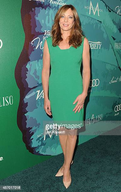 Actress Allison Janney arrives at Variety's 2014 Power Of Women Event In LA Presented By Lifetime at the Beverly Wilshire Four Seasons Hotel on...