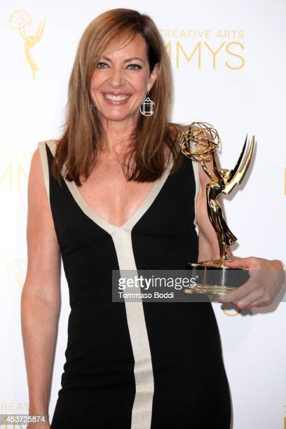 Actress Allison Janney attends the 2014 Creative Arts Emmy Awards press room held at the Nokia Theatre LA Live on August 16 2014 in Los Angeles...