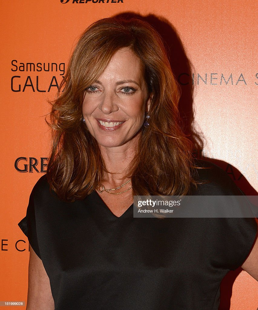 Actress <a gi-track='captionPersonalityLinkClicked' href=/galleries/search?phrase=Allison+Janney&family=editorial&specificpeople=206290 ng-click='$event.stopPropagation()'>Allison Janney</a> attends The Cinema Society with The Hollywood Reporter & Samsung Galaxy S III host a screening of 'The Oranges' at Tribeca Screening Room on September 14, 2012 in New York City.